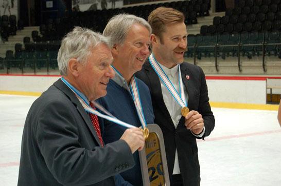 Lietuvos jaunimo ledo ritulio rinktinės treneriai Bernd Haake, Jim Setters bei Mindaugas Kieras. Evgenii Rancev nuotr.