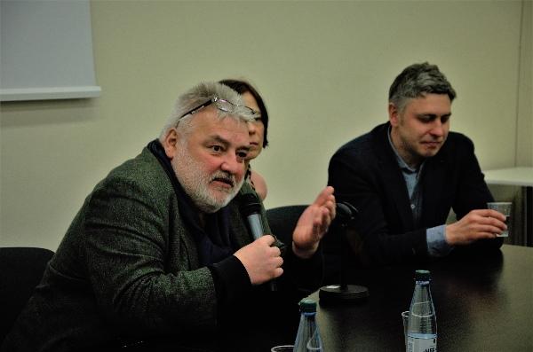 Diskusijos apie iššūkius liberaliajai demokratijai dalyviai. Autorės nuotr.