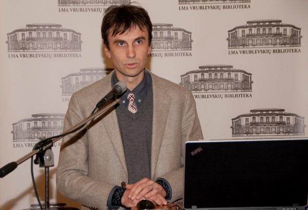 Humanitarinių mokslų daktaras Vykintas Vaitkevičius. Vrublevskių bibliotekos nuotr.