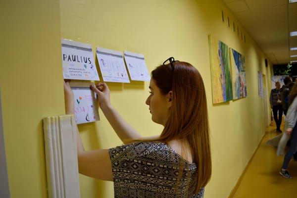 """1. Studentė, Marijampolės """"Sniego gniūžtės"""" savanorė Violeta P. Autorės nuotr."""