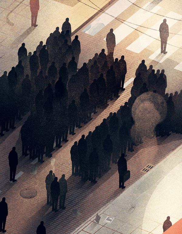 Karolio Strautnieko iliustracija.