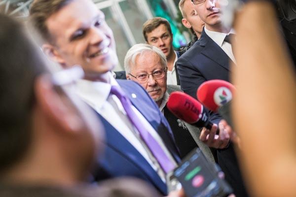 Profesorius Vytautas Landsbergis ir Gabrielius Landsbergis. Edvardo Blaževičiaus nuotr.