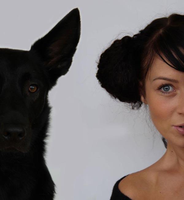 Su mylimiausiu šuniu Otelu. Asmeninio albumo nuotr.