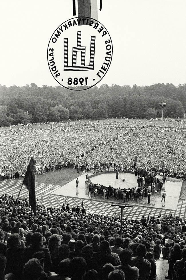 L. Skirpsto nuotrauka. 1988 m. mitingas Vingio parke.