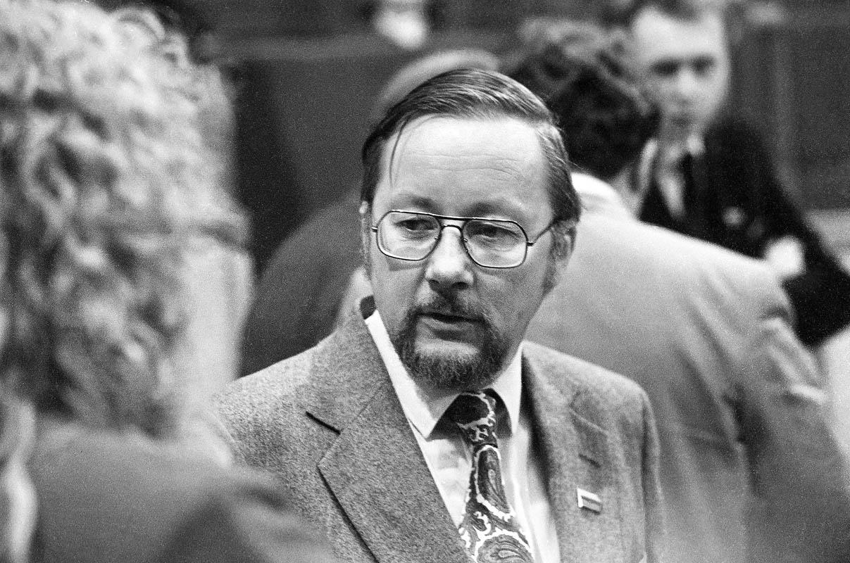 L. Skirpsto nuotrauka. 1990 m. Lietuvos Respublikos Aukščiausiosios Tarybos – Atkuriamojo Seimo posėdis.