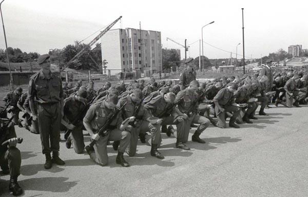 XX amžiaus 10 dešimtmetis. Ką tik atsikūrusi Lietuvos kariuomenė. KAM nuotr.