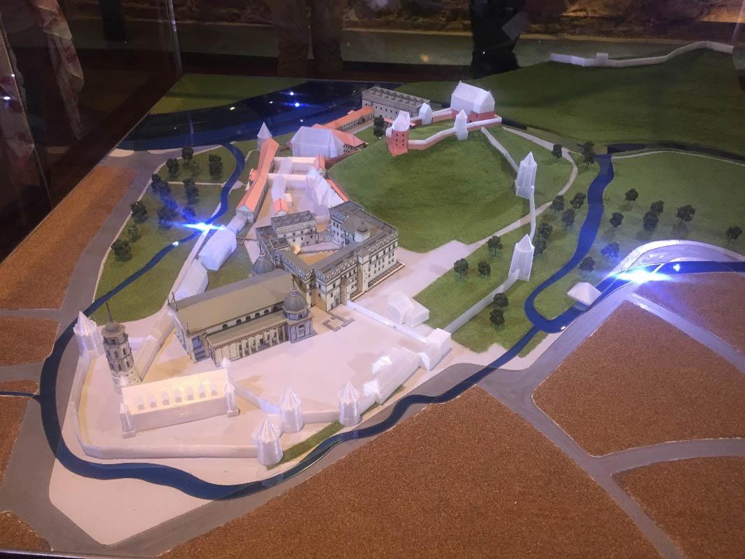 Valdovų rūmų projekcija. Asmenio archyvo nuotr.