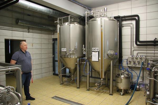 """Talpos, kuriose brandinamas """"Dzūkų alaus restorano"""" alus. Zenono Šilinsko nuotr."""