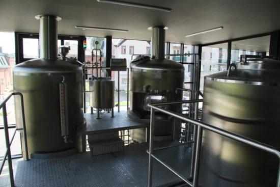 Patalpa, kurioje vyksta alaus virimas. Zenono Šilinsko nuotr.