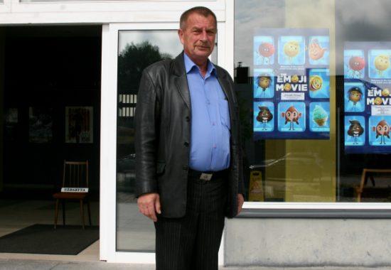 Kino teatro direktorius Stasys Baublys. Autorės nuotr.