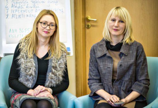 Ana Žalienė (dešinėje) su Violeta Puroniene (kairėje)