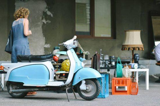 Vienas iš mėgstamiausių įsigytų dalykų – motoroleris. Linos Jushke nuotr.