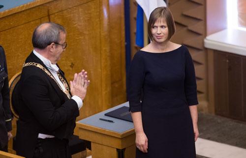Prieš tapimą šalies vadove K. Kaljulaid nebuvo ypatingai žinomas žmogus Estijoje. Tairo Lutter, Postimees/Scanpix nuotr.