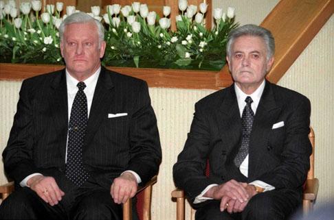 A. Brazausko aktyvumas priklausė nuo Seime esančios daugumos, o V. Adamkus pats bandė paveikti koalicijų formavimą. G.Mačiulio (Seimo archyvo) nuotr.