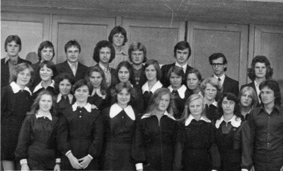 1975 m. R. Dargis viršutinėje eilėje, trečias iš dešinės. Alberto Juodeikio nuotr.