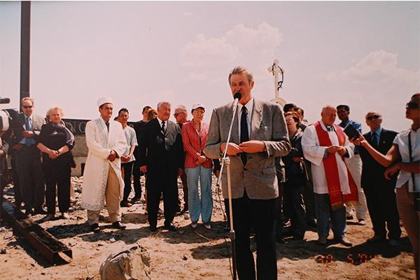A. Seikalis sako kalbą Kazachstane. Asmeninio archyvo nuotr.
