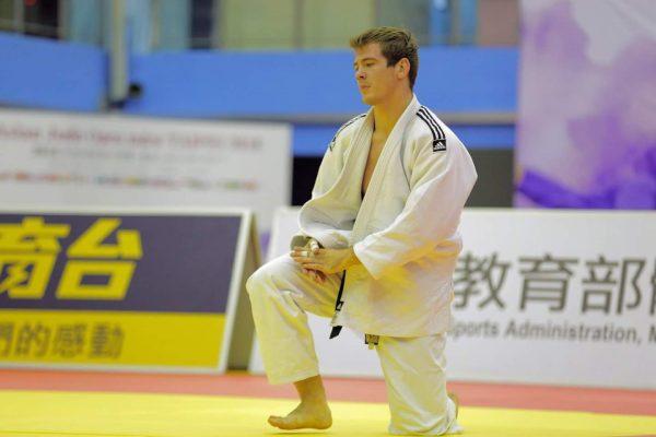 Rokas Nenartavičius Asia Judo Open varžybose Taivane. Asmeninio archyvo nuotr.