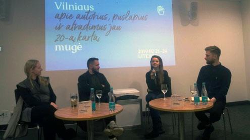Diskusijos dalyviai, arba 3 prieš 1. Autorės nuotr.