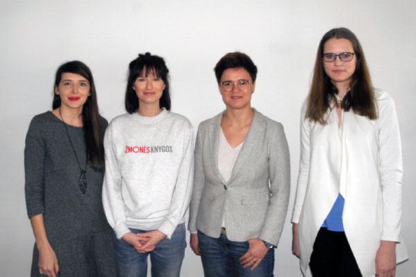 Tinklaraščių autorės - iš kairės Ieva Visockienė, Nora Žaliūkė, Lina Girčytė-Juškė, Monika Mikėnaitė. Autorės nuotrauka