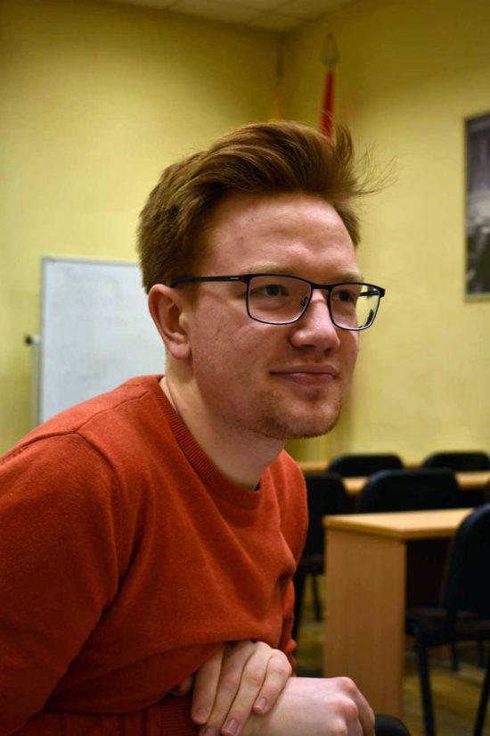 Žurnalistų dienų organizacinio komiteto pirmininkas Lukas Aluzas. Karolinos Kaškur nuotr.