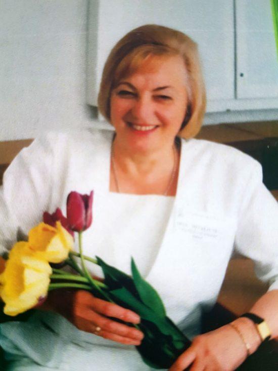 Ona Mitalienė ligoninės šventėje. Iš asmeninio  archyvo.
