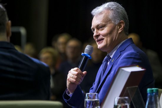 Skaitytojų susikitimas su Prezidentu Gitanu Nausėda. Roko Lukoševičiaus nuotraukos.