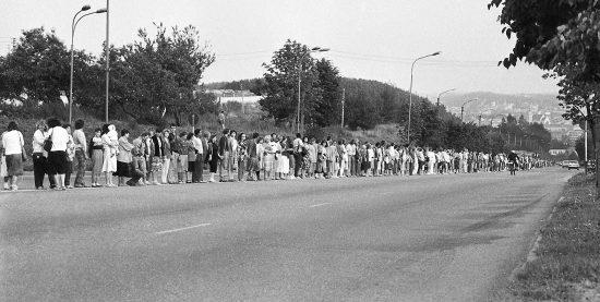 Baltijos kelias. 1989 m. rugpjūčio 23-oji. Leonardo Skirpsto nuotrauka