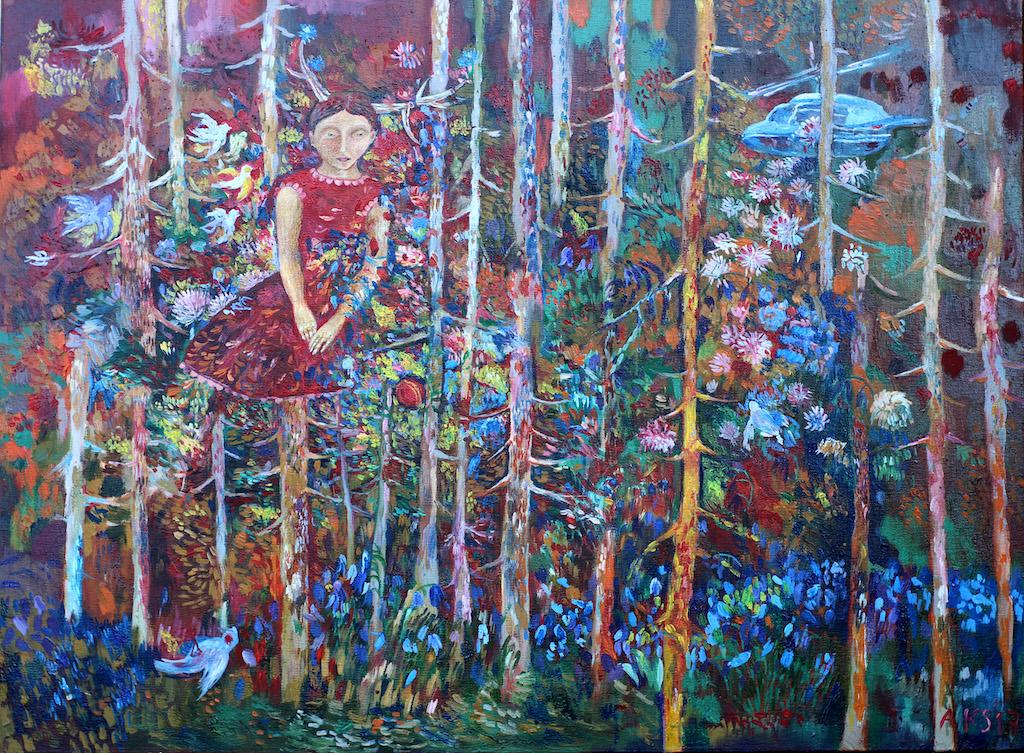 """Dailininkės Aurelijos Kairytės-Smolianskienės paveikslas """"Kas tu esi?"""" Aurelijos Kairytės-Smolianskienės nuotr"""
